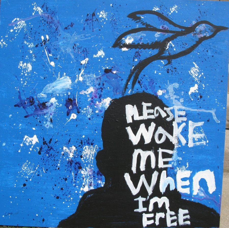 student's work: poetry and painting project, Baltimore
