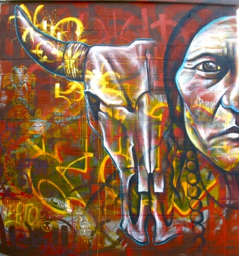 Brooklyn 2012: Sitting Bull (left side) by the Morgan Ave L train stop