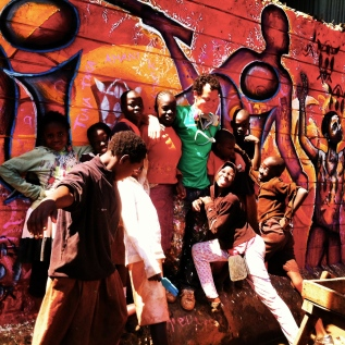 The kids of Kibera: so enthusiastic!