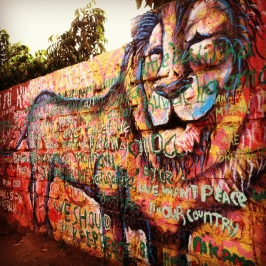 Nairobi, Kenya 2013: Lion with the youth participants' poetry