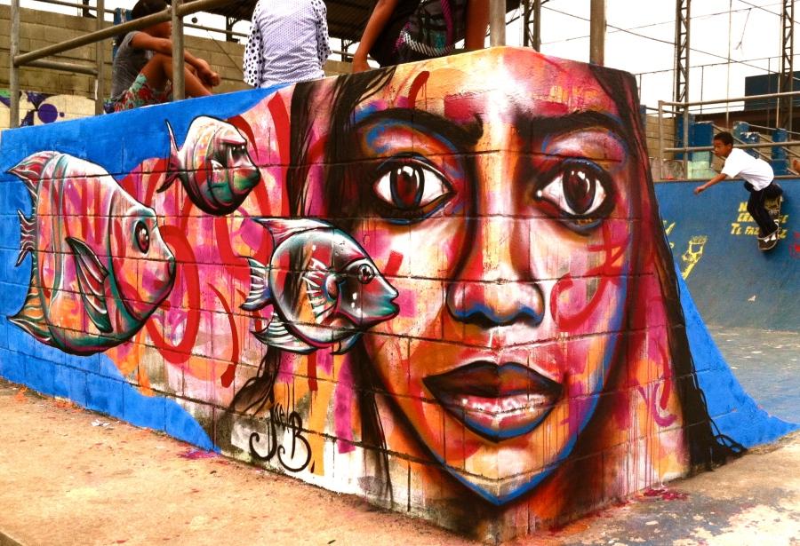 São Paulo, Brazil: skate park piece