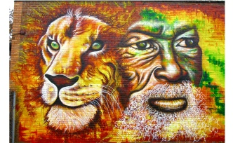 Baltimore, Maryland 2012: mural on Montego Bay restaurant