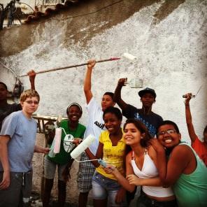 Excited to paint! City of God, Rio de Janeiro