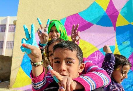 Kids in Za'atari Village