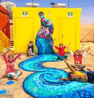 """Za'atari Syrian Refugee Camp, Jordan 2014: """"A River in Za'atari"""""""