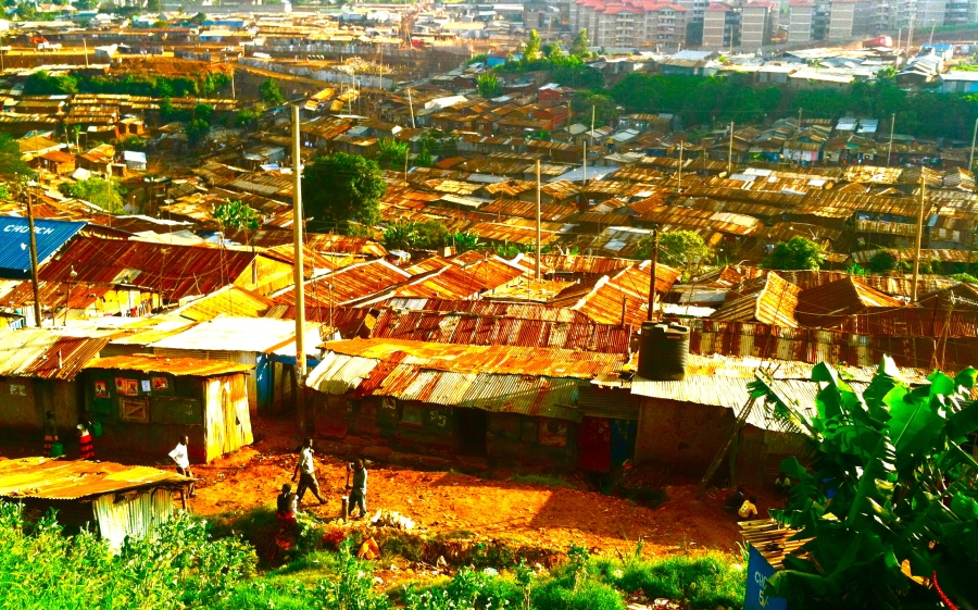Kibera, Africa's second-largest informal settlement, or slum.