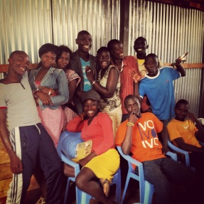 The youth of Kibera Hamlets