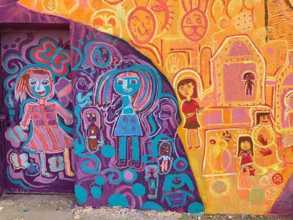 Children's art! Detail from Amman mural