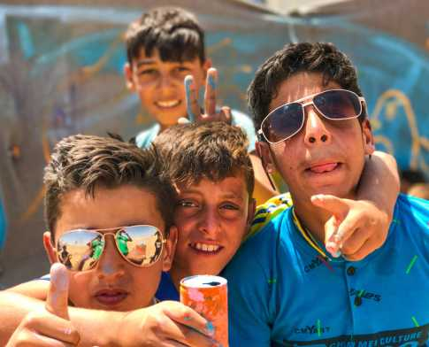 The boys of Azraq Refugee Camp