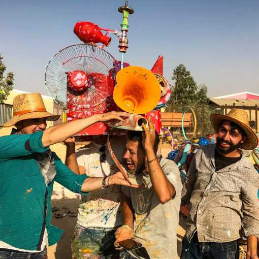 The Jasmine Necklace Art Collective: Syrian artists in Za'atari Camp