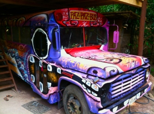 The Paz Paz Bus, bringing social projects and the arts to communities across Mexico.