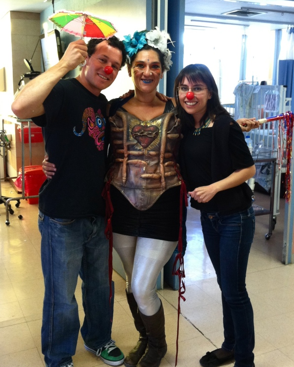 The Children's Hospital crew! It's important to bring joy, comedy and goofiness to this intensely sad place.