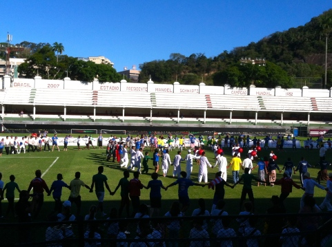 Closing ceremony in Fluminense Stadium.