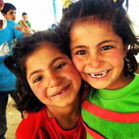 children in Za'atari Syrian Refugee Camp