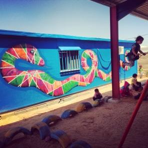 Za'atari Syrian Refugee Camp, 2014: piece with local kids