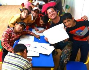 Art workshops with local kids in Za'atari