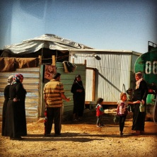 Za'atari Syrian Refugee Camp in northern Jordan