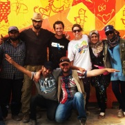 Za'atari Syrian Refugee Camp, 2014: my coworkers! artists and educators