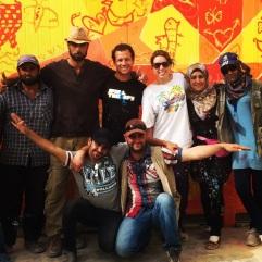 Za'atari Syrian Refugee Camp, 2014: my coworkers! artists and educators