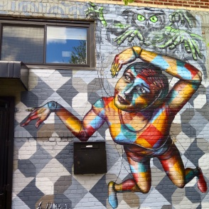 """Brooklyn, NY 2015: """"The Marionette"""" in Bushwick was Joel's contribution to the Brooklyn is the Future event"""