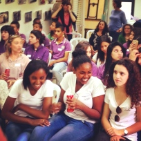 Teens participating in a workshop