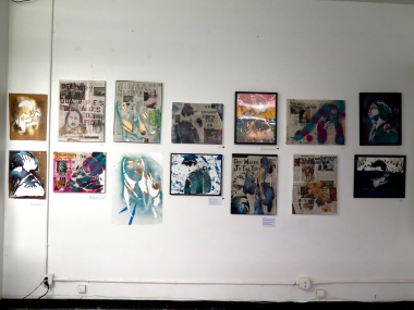 A wall of my Brooklyn students' work at the exhibition