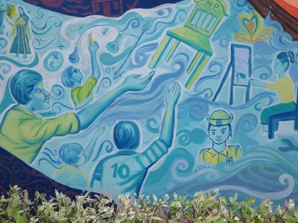 Detail depicting the teens' visions for their future, Kolkata