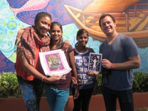 Moina and Jyotsna made us goodbye gifts-- so sweet!