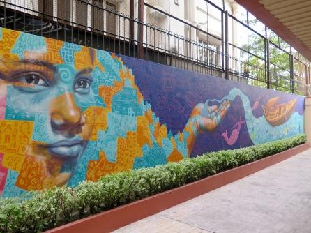 Kolkata mural detail