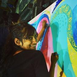 Krishna Sharma, local artist and our collaborative partner.