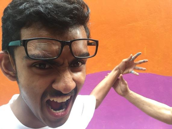 Prantik modeling for the demon in Kolkata