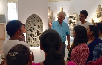 We took advantage of being at the Birla Academy by learning about the exhibited work