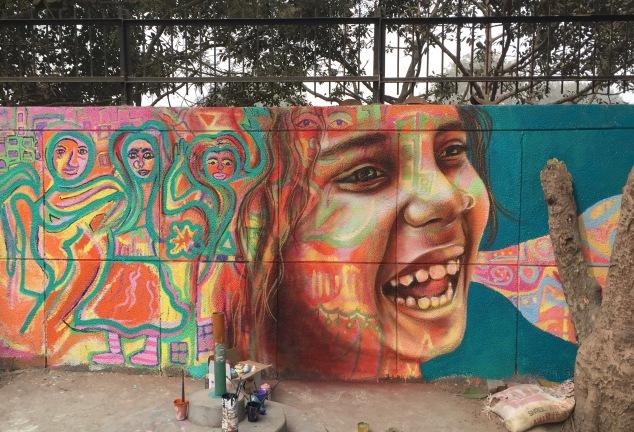 Mural in Delhi