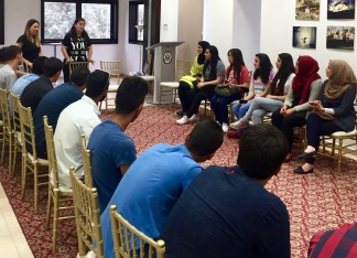 East Jerusalem youth workshop with Palestinian youth