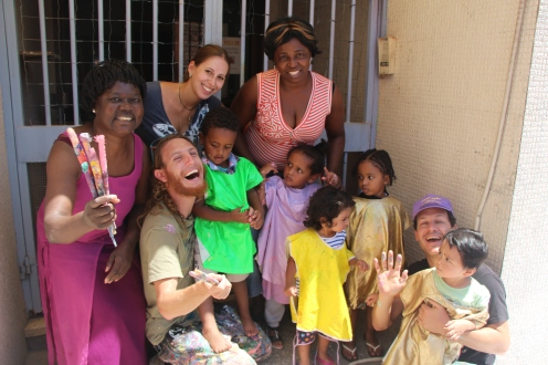 Project with African asylum-seeker children and staff at UNITAF
