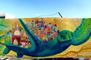 Jisr Az Zarqa: Arab Village community mural addressing environmental degredation
