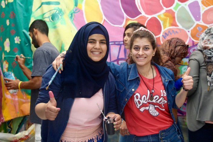 East Jerusalem mural project with Palestinian youth
