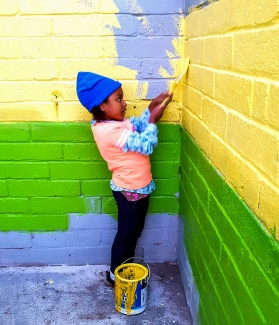 A young artist at work
