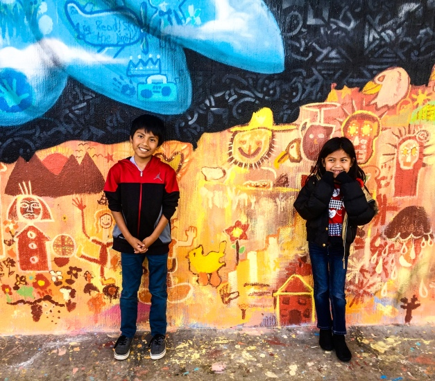 Livingston, California 2016: Two young artists showing off their work!