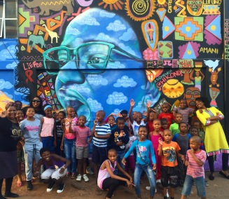 Johannesburg, South Africa 2016: Our enthusiastic little artists!