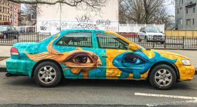 Brooklyn, NY: Joel's car, 2018